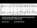 Cyrillus Kreek 84. Psalm Davids / The psalm 84 of David / Taaveti laul 84 (1914) for mixed choir