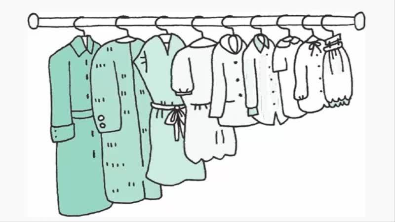 Как правильно хранить одежду для развешивания. Мари Кондо_Конмари. Искры радости