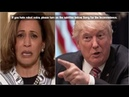 Kamala Harris Screams 'I Want Nothing To Do With You' As Trump Exposes Her Big Lie