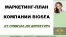 Подробный маркетинг план компании BIOSEA от новичка до директора