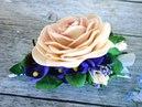 Заколка с цветами из фоамирана: МК
