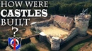 How were castles built constructed in the medieval period