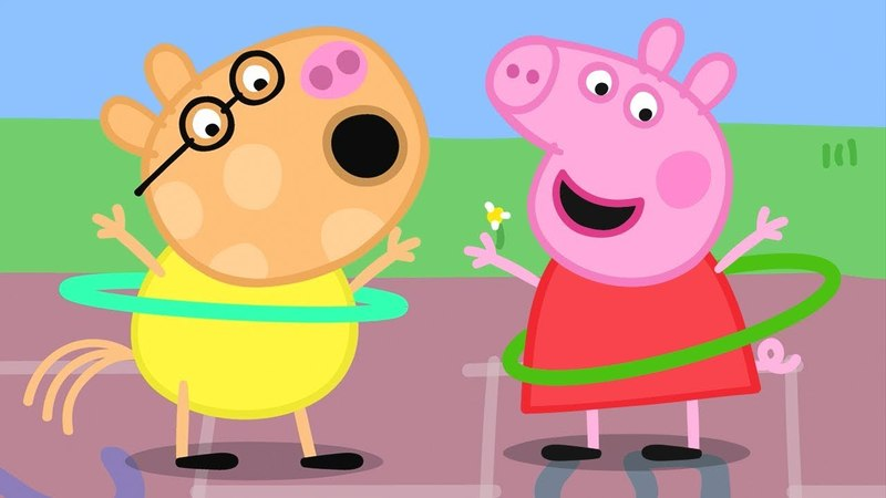 Peppa Pig English Episodes | Skipping and Hula Hooping with Peppa Pig! | Cartoons for Children