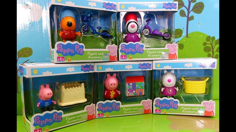 Peppa Pig. New Toys Peppa Pig and her Friends. Playing with Toys Peppa Figures and accessorizes