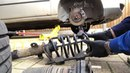 Ford Mondeo mk3 front coil spring replacement broken cracked diy repair fix