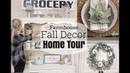 FALL DECOR HOME TOUR 2018 | FARMHOUSE INSPIRED | DIY WREATH AND PUMPKINS