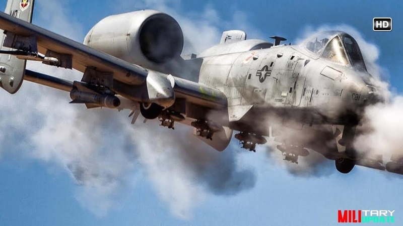Awesome A-10 Warthog in Action / Firing the Dreaded