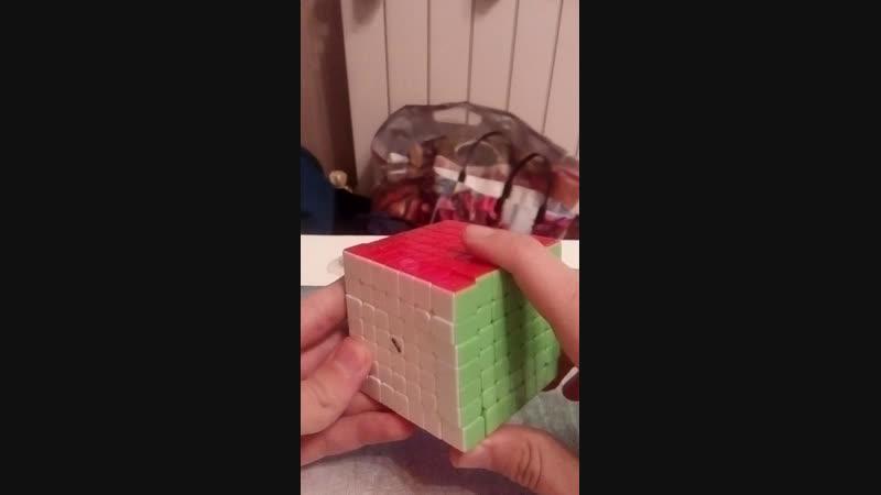 Первый раз в ЖИЗНИ собираю кубик рубика семь на семь