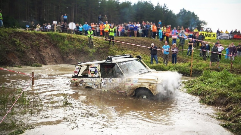 Где предел боевого Range Rover? Топим, прыгаем, тонем. Жёсткий спринт 2018. Бездорожье.
