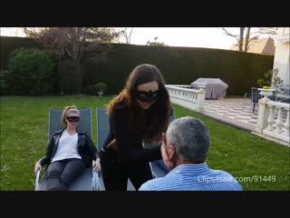 Selena sasha arianna outdoor face slapping.mp4