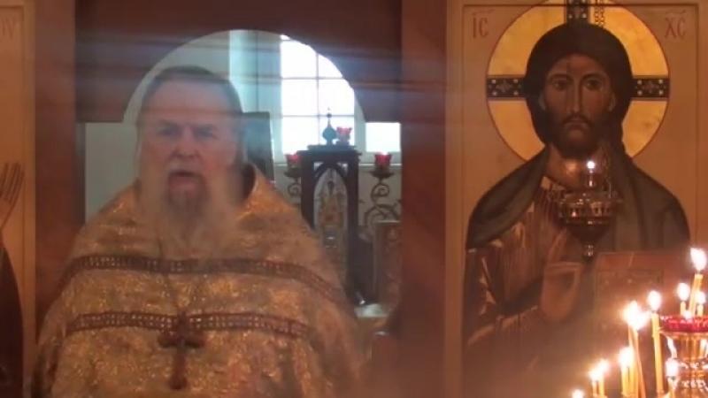 Священник Павел Адельгейм Проповедь на Литургии Вознсение Господне в храме свв Жён мироносиц Псков 27 5 2012