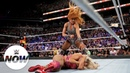 Becky Lynch attacks Charlotte Flair after The Queen's title win WWE Now