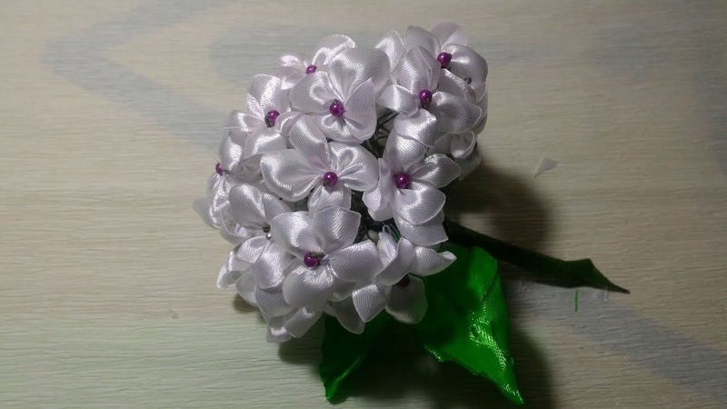 DIY | hydrangea flower | bunga hydrangea dari pita satin
