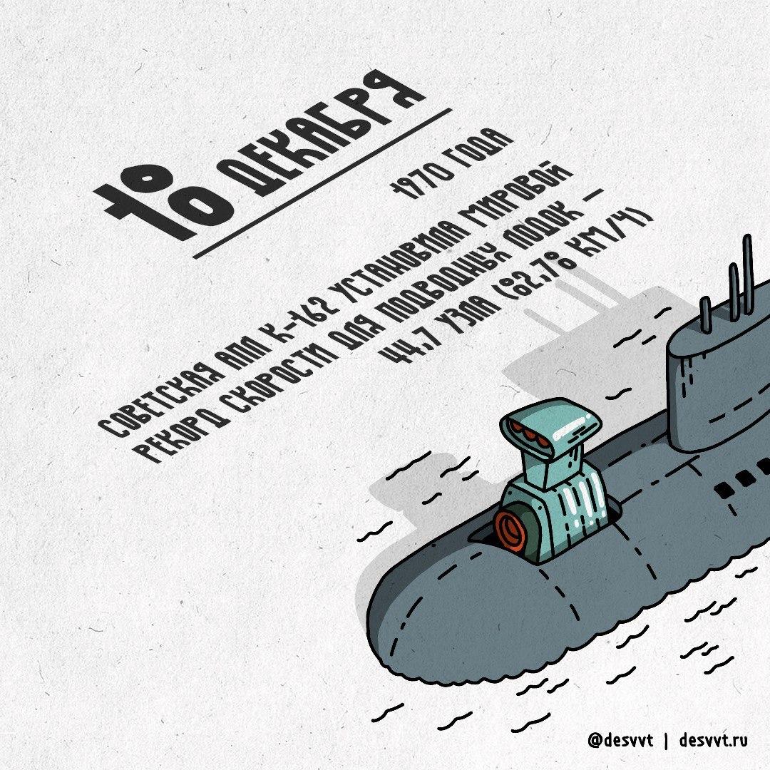 (018/366) 18 декабря поставлен рекорд скорости для подводных лодок