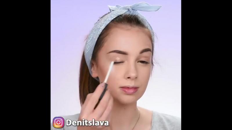 Миленькая идейка макияжа 😃😍