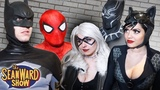 Spider-Man, Batman vs Black Cat, Catwoman &amp Black Panther! (Parody)