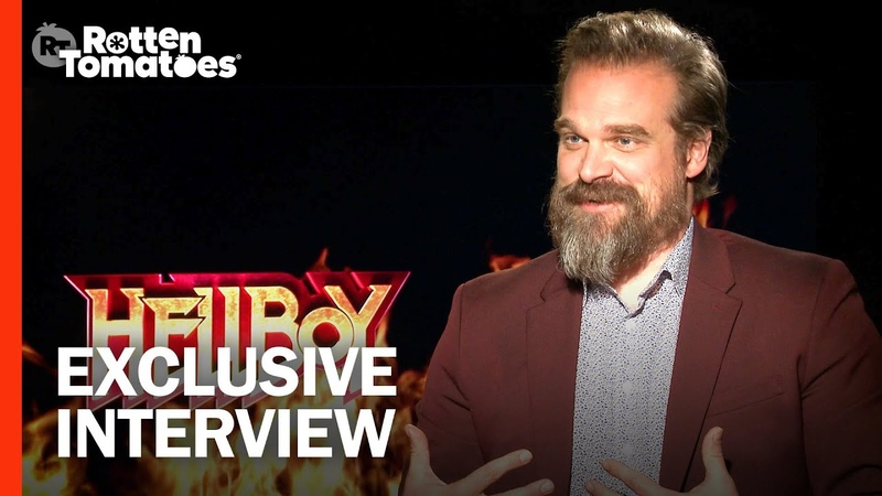 Hellboys David Harbour Ate Pancakes and Donuts to Maintain His Dad Bod | Rotten Tomatoes
