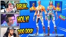 STREAMERS REACT TO *NEW* MASKED FURY DYNAMO SKINS PILEDRIVER AXE Fortnite FUNNY Moments