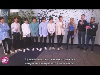 [RUS SUB][18.05.18] BTS Celebrates 'Fake Love' Release with The New Guys @ 97.1 AMP Radio