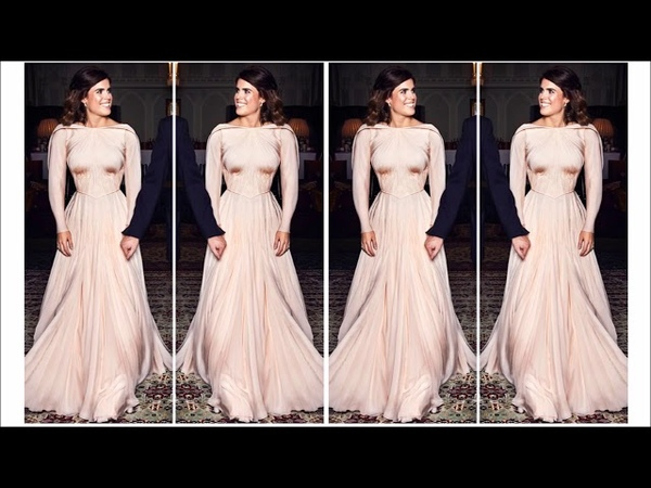 SHE IS A REAL PRINCESS PRINCESS EUGENIE STUNNING in second wedding dress by ZAC POSEN