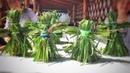 Танцующие куклы из травы