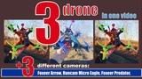 3 drone in one video &amp real test fpv cameras-Micro Eagle, Predator, Arrow. Music Wig Wam Erection