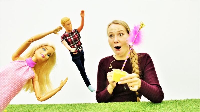 Барби и Кен встретили волшебницу Видео для девочек