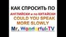 0047 УЧИМСЯ ГОВОРИТЬ ПО АНГЛИЙСКИ И СРАЗУ ПО КИТАЙСКИ COULD YOU SPEAK MORE SLOWLY PLEASE