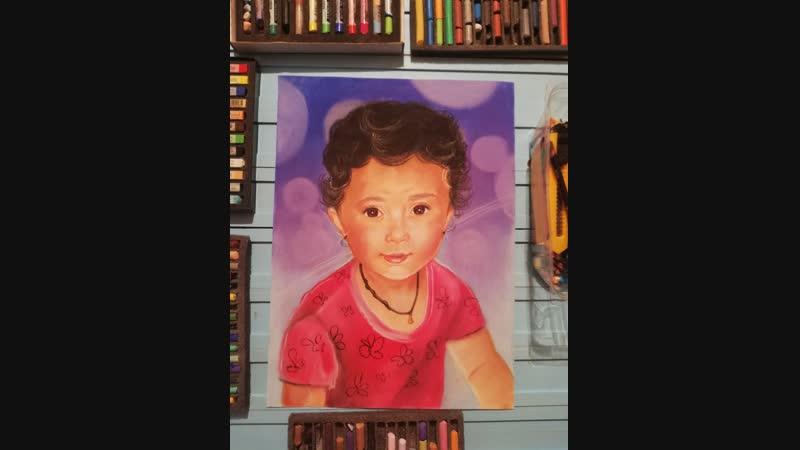 Портрет цветными мелками Elena Stetsyuk