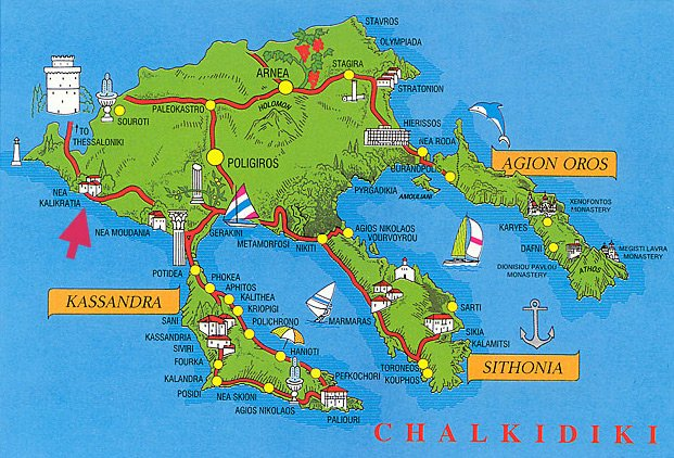 Карта Халкидиков