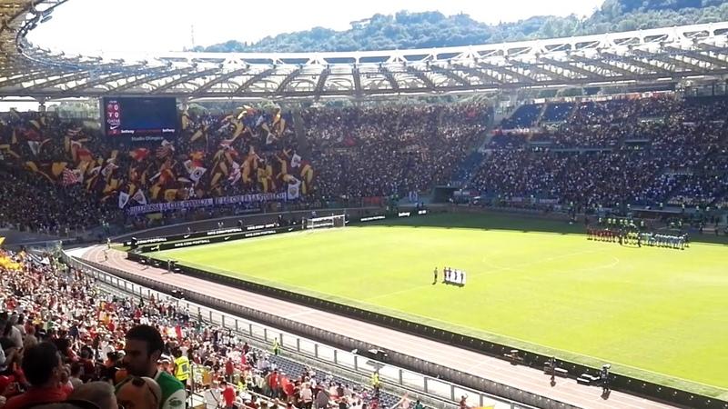 Roma-Lazio 3-1 | Coreografia Curva Sud