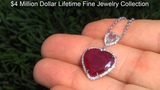 GIA Certified Unheated Rare 8.43 Ct. Top Red Burma Ruby &amp Diamond Heart Pendant. Solid 18k Gold