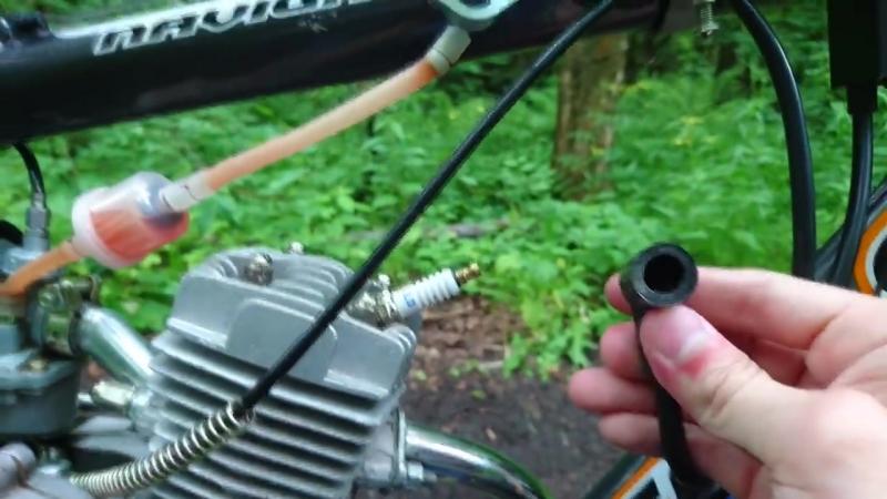 Велосипед с мотором F50 своими руками.mp4