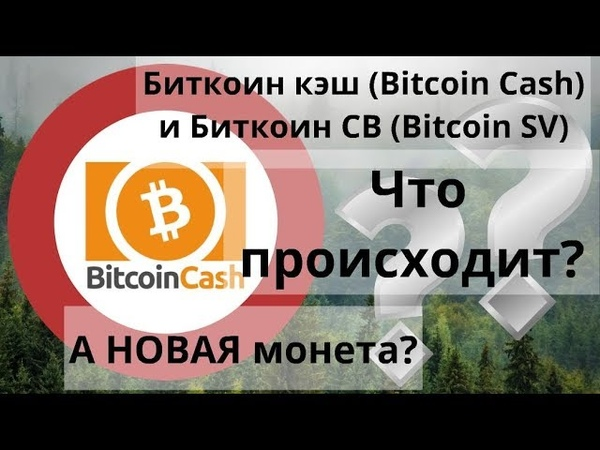 Биткоин кэш (Bitcoin Cash) и Биткоин СВ (Bitcoin SV) Что происходит? А НОВАЯ монета?