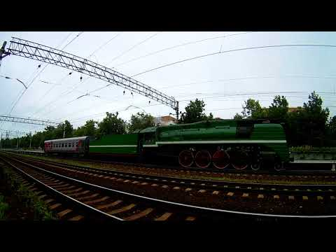 Ретропоезд с экскурсией в Коломну, на платформе Фабричная, Рязанского направления МЖД.