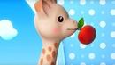 Английский язык для детей Жираф Софи Цвета Colors Красный Red и Желтый Yellow серия 1