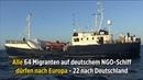 """""""Alan Kurdi"""" Alle 64 Migranten auf deutschem NGO-Schiff dürfen nach Europa – 22 nach Deutschland"""