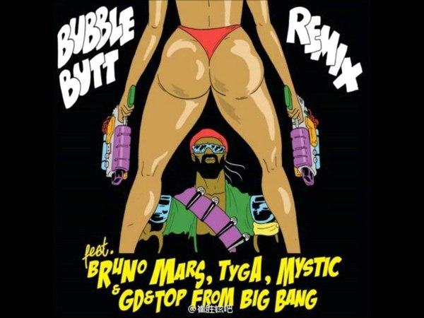 Bubble Butt feat Bruno Mars GD TOP from Big Bang Tyga Mystic AUDIO