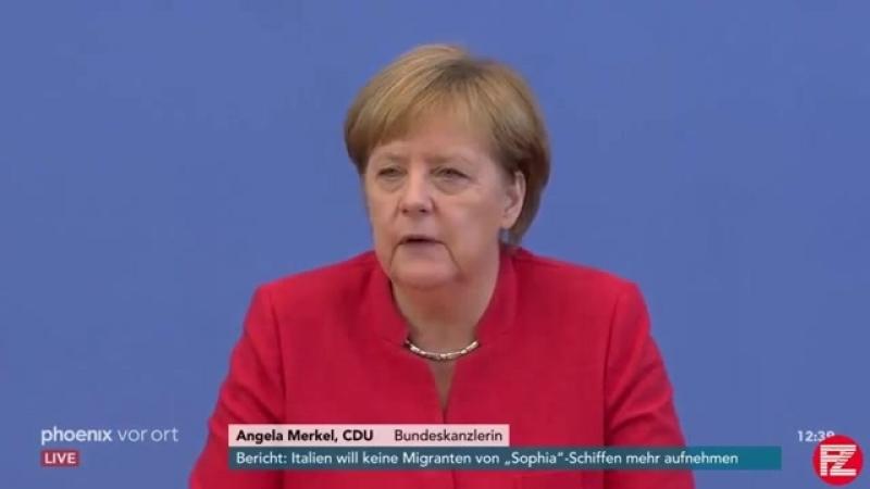 Sommer-Pressekonferenz 2018 von Angela Merkel- Mehrere kritische Fragen zur ihrer Kanzlerschaft -HD-