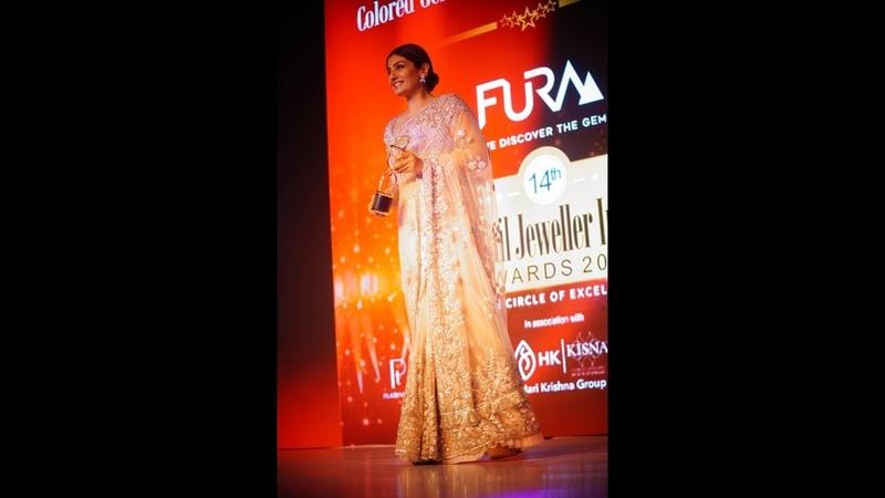 Actress Raveena Tandon at The Fura Retail Jeweller Awards India 2018