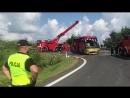 Украинский автобус с детьми упал со склона в Польше есть погибшие 2