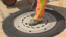 Как меняют канализационные люки в Германии