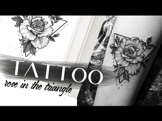 Tattoo rose in the triangle