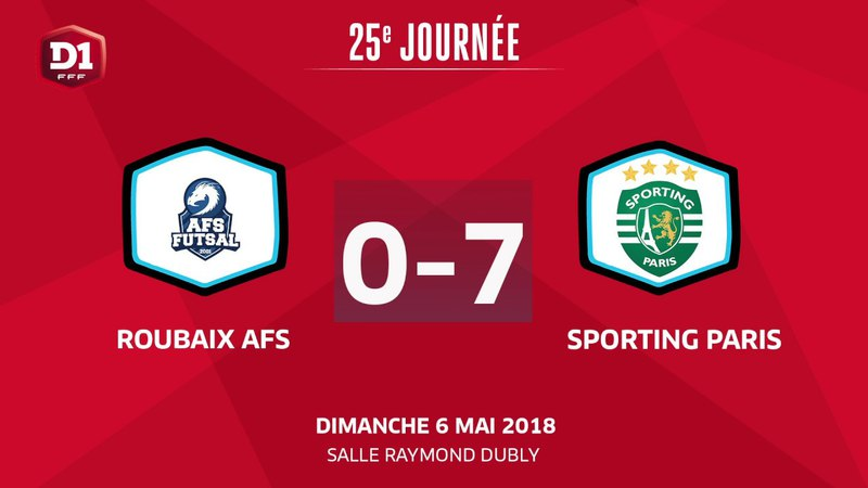 J25 : Roubaix A F S - Paris Sporting Club (0-7)