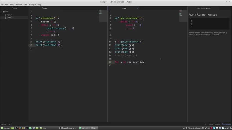 [Олег Молчанов] Уроки Python casts 10 - Что такое yield