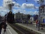 Ретро-поезд в Костроме
