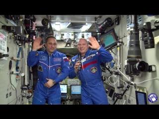 Официальное приветствие участником форума от экипажа Международной космической станции