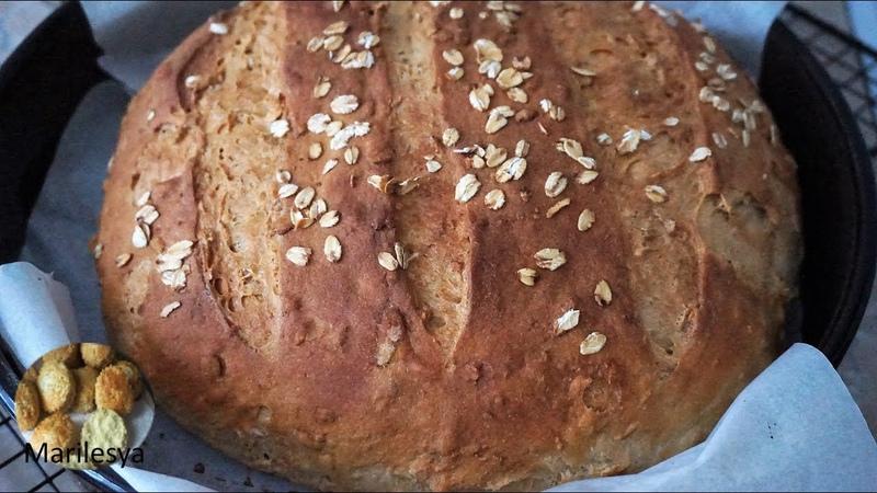 ХЛЕБ С ОВСЯНЫМИ ХЛОПЬЯМИ Buttermilk Oatmeal bread