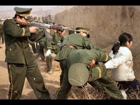 Казнь в Китае . Казнят чиновников которые воруют .Растрел .К Казни приговорили Уйгуров в Урумчи.