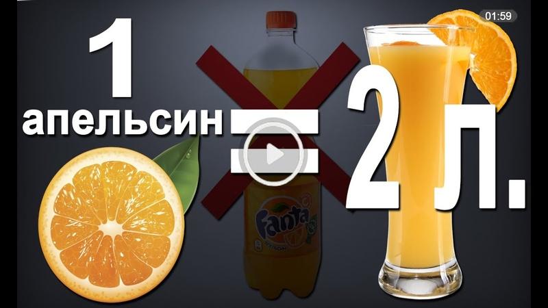 Как сделать самому апельсиновый сок в домашних условиях. 2 литра из 1 апельсина! Лайфхак